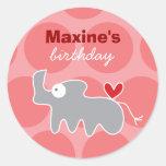 Cartoon Rhino Kid Custom Gift Favors Label Sticker Round Sticker