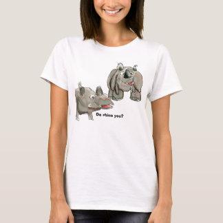 Cartoon Rhino You Custom T-Shirt Apparel