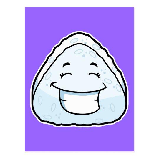 Cartoon Rice Ball Postcard