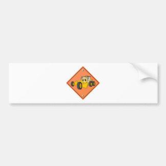 Cartoon Road Grader Sign Bumper Sticker