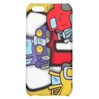 Cartoon Roadsters Cover For iPhone 5C