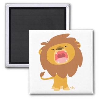 Cartoon Roaring Lion magnet