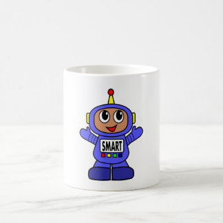 Cartoon Robot Boy Classic White Coffee Mug