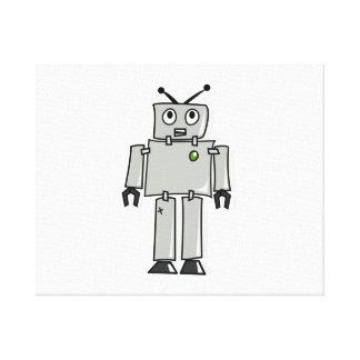 Cartoon Robot Gallery Wrap Canvas