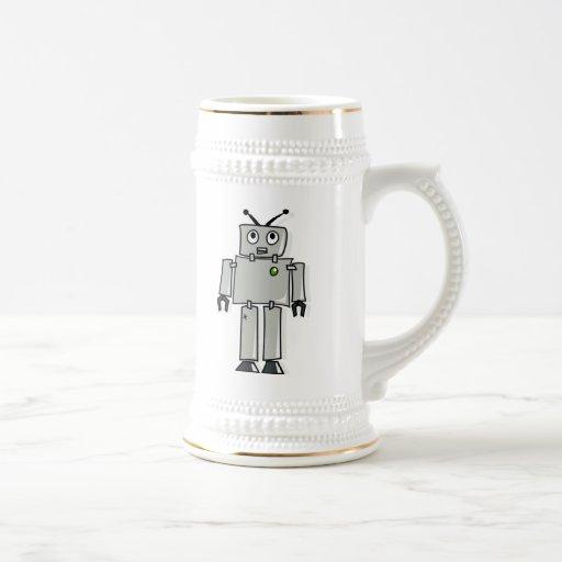 Cartoon Robot Coffee Mug