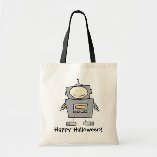Cartoon robot customizable trick or treat bag