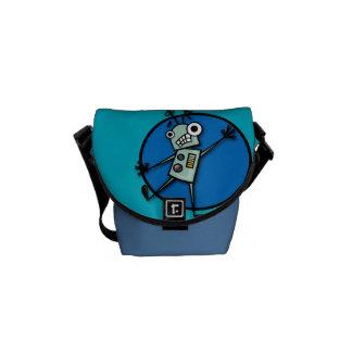CARTOON ROBOT MINI MESSENGER BAG