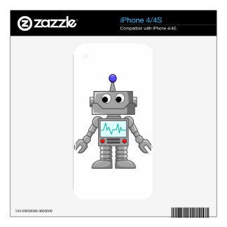 Cartoon Robot Skin For The iPhone 4S