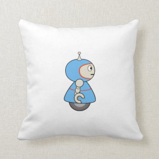 Cartoon Robot Throw Pillow