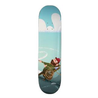 Cartoon Rock Climbing Man Skateboards