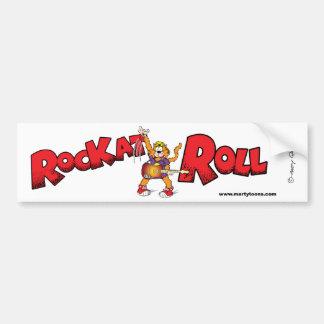 Cartoon Rock n Roll Cat Bumper Sticker Car Bumper Sticker