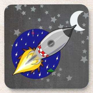 Cartoon Rocket Drink Coaster
