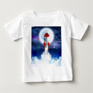 Cartoon Rocket Launch Baby T-Shirt