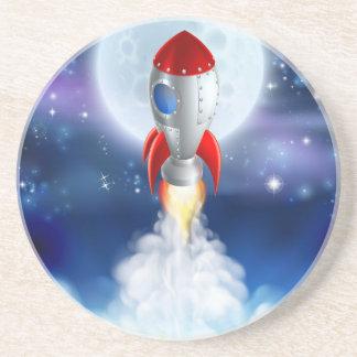 Cartoon Rocket Launch Coaster