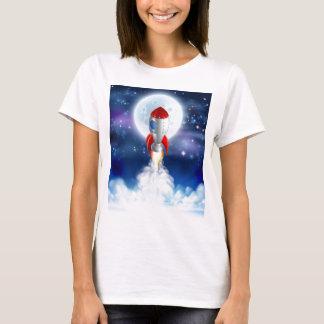 Cartoon Rocket Launch T-Shirt