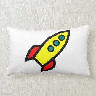 Cartoon Rocket Throw Pillows