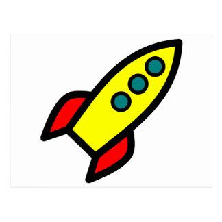 Cartoon Rocket Postcards