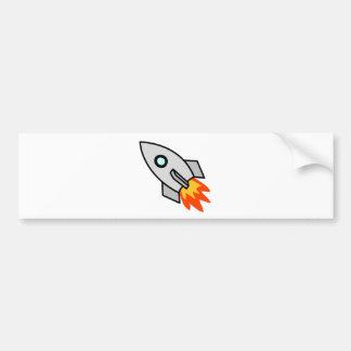 Cartoon Rocket Ship Bumper Sticker