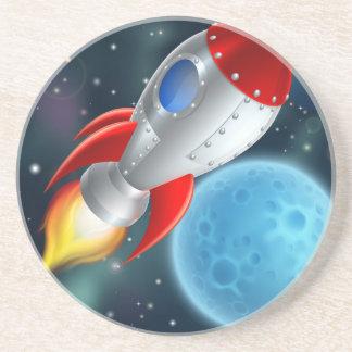 Cartoon Rocket Space Ship Coaster