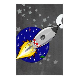 Cartoon Rocket Stationery