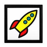 Cartoon Rocket Trinket Boxes