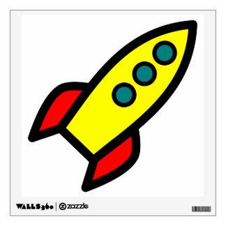 Cartoon Rocket Wall Decal