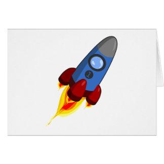 Cartoon Rocketship Card