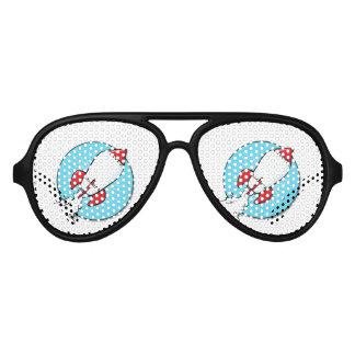 Cartoon RocketShip Design Aviator Sunglasses