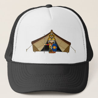 Cartoon Roman Centurion Lion Soldier Trucker Hat