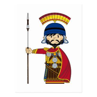 Cartoon Roman Centurion Soldier Postcard