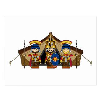 Cartoon Roman Centurion Soldiers Postcard
