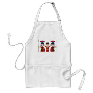 Cartoon Roman Emperor and Soldiers Adult Apron