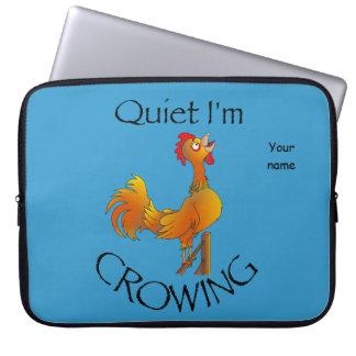 Cartoon Rooster crowing Laptop Sleeve