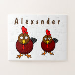 Cartoon Rooster   Jigsaw Puzzle