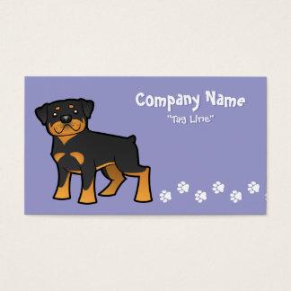 Cartoon Rottweiler Business Card