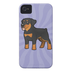Cartoon Rottweiler iPhone 4 Case