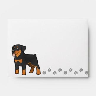 Cartoon Rottweiler Envelope