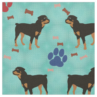Cartoon Rottweiler Fabric
