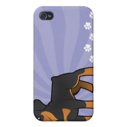 Cartoon Rottweiler Cover For iPhone 4