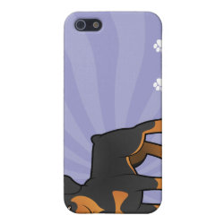 Cartoon Rottweiler Case For iPhone SE/5/5s