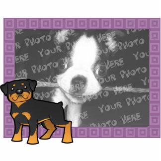 Cartoon Rottweiler Photo Frame Statuette