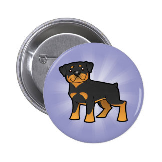 Cartoon Rottweiler Pinback Button