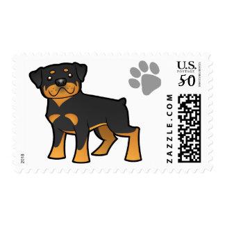 Cartoon Rottweiler Postage