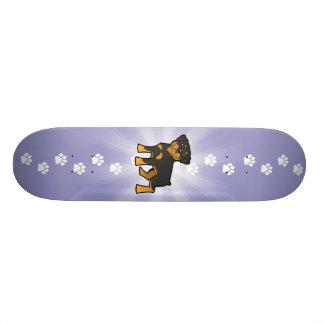 Cartoon Rottweiler Skateboard Deck