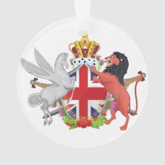 Cartoon Royal Throne Crest Ornament