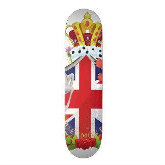 Cartoon Royal Throne Crest Custom Skate Board
