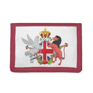 Cartoon Royal Throne Crest Tri-fold Wallets