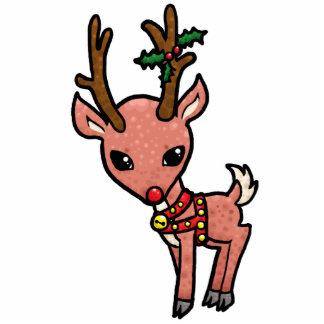 Cartoon Rudolf Christmas Cutout