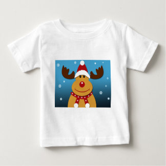Cartoon Rudolph The Reindeer Christmas Gifts Baby T-Shirt