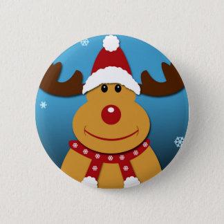 Cartoon Rudolph The Reindeer Christmas Gifts Pinback Button